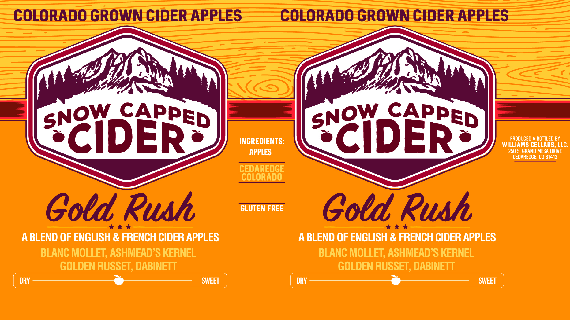 Snow Capped Gold Rush beer Label Full Size