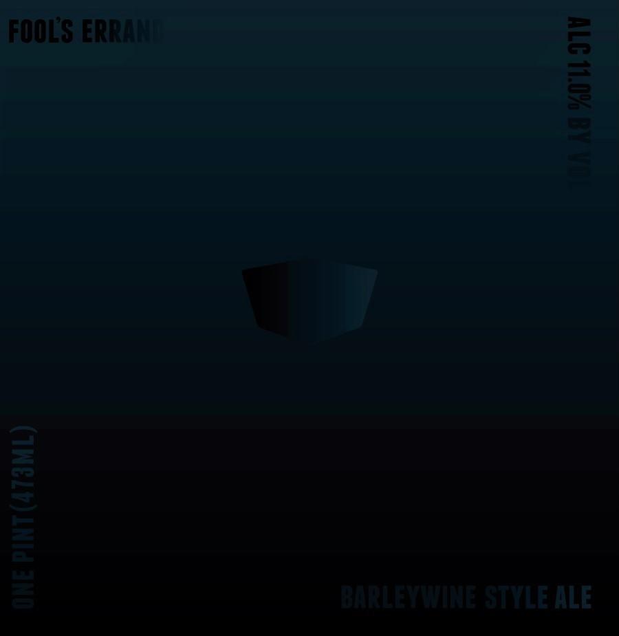 Virginia Beer Co. Fool's Errand beer Label Full Size