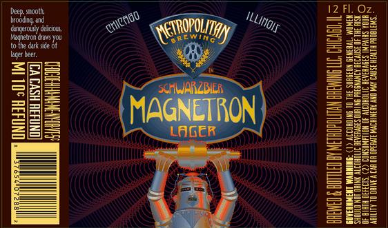Metropolitan Magnetron Schwarzbier Beer