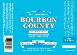 Goose Island Proprietor's Bourbon County Stout beer Label Full Size