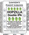 Lawson's Finest Liquids Hopzilla beer Label Full Size