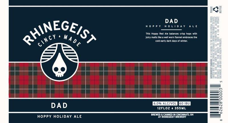 Rhinegeist Dad beer Label Full Size
