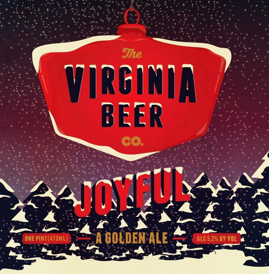 Virginia Beer Co. Joyful beer Label Full Size