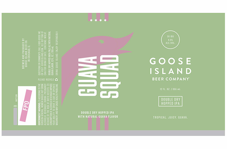 Goose Island Guava Squad beer Label Full Size
