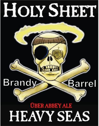 Heavy Seas Holy Sheet (Brandy Barrel) beer Label Full Size