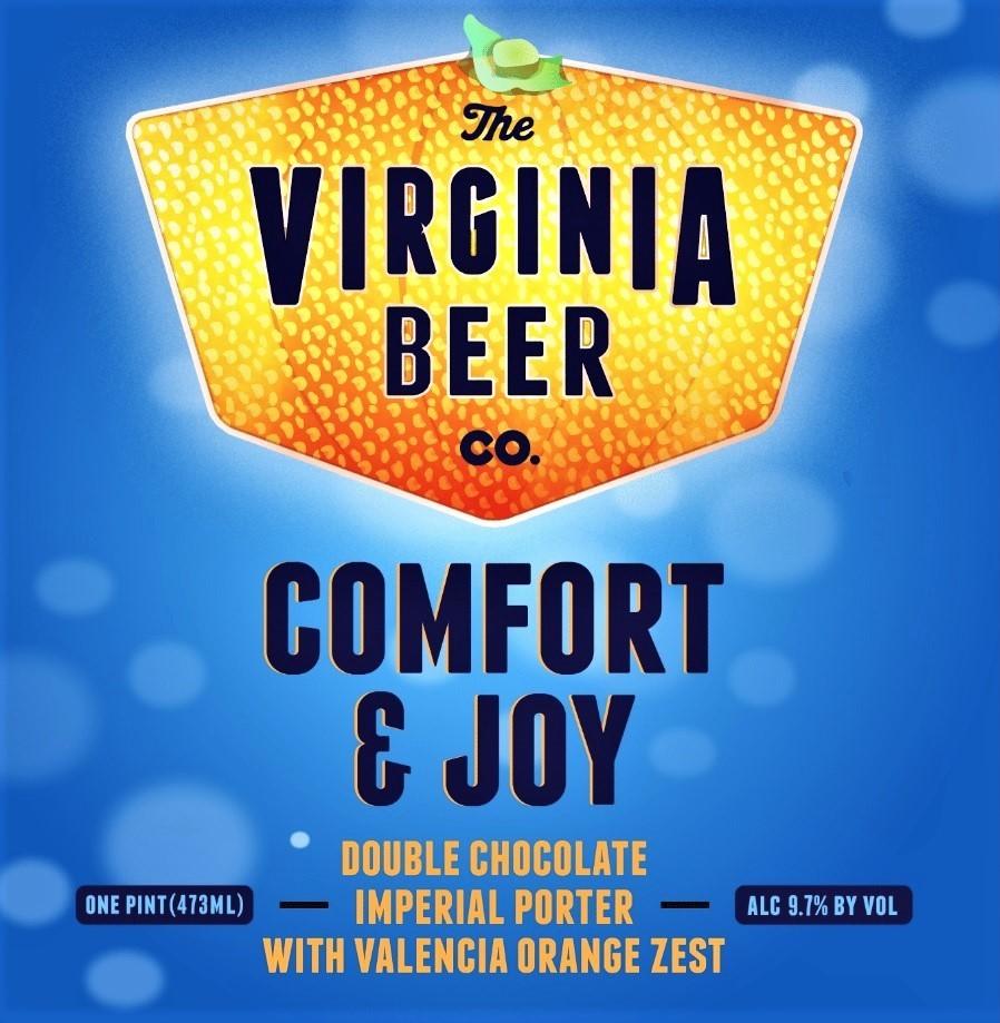 Virginia Beer Co. Comfort & Joy beer Label Full Size