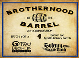 Two Brothers Brotherhood of the Barrel 'Batch 1 of 2' beer