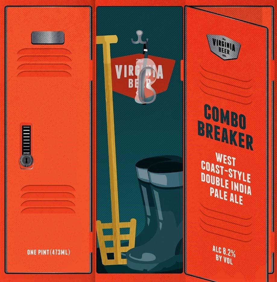 Virginia Beer Co. Combo Breaker West Coast DIPA beer Label Full Size