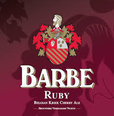Verhaeghe Barbe Ruby beer Label Full Size