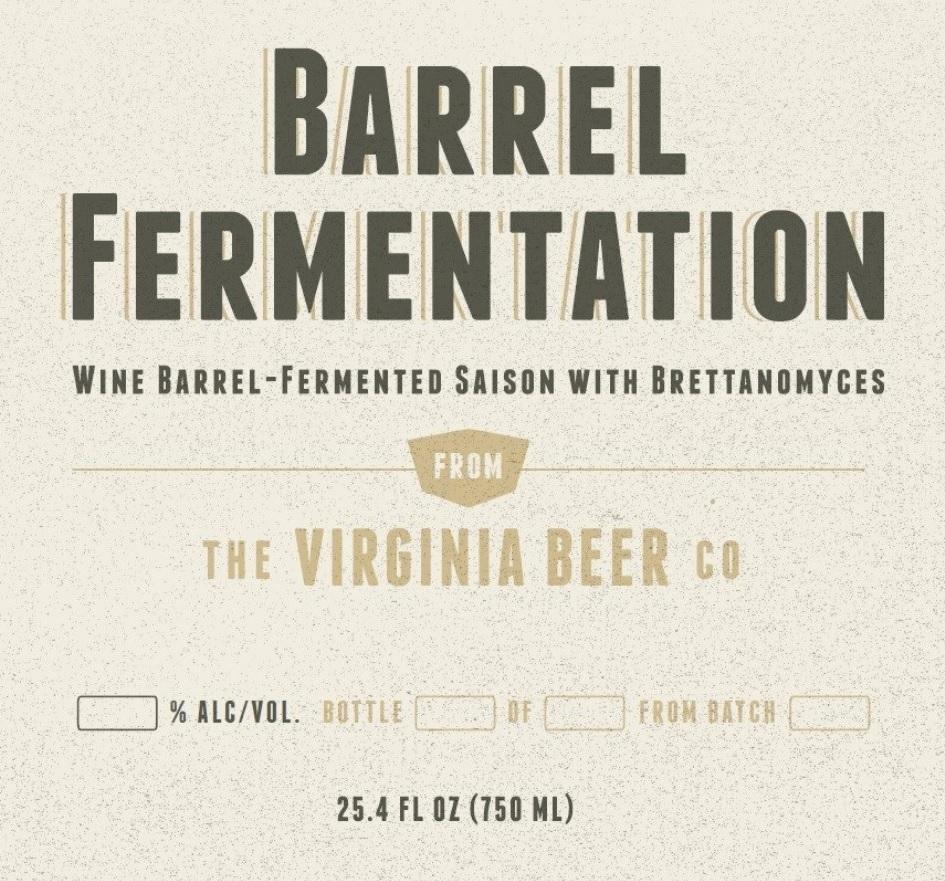 Virginia Beer Co. Saison Tournante - Barrel Fermentation III beer Label Full Size