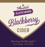 Austin Eastciders Blackberry Cider beer