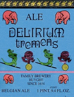 Delirium Tremens beer Label Full Size