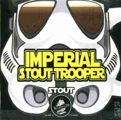 New England Imperial Stout Trooper beer Label Full Size