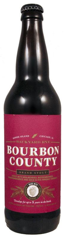 Goose Island Bourbon County Backyard Bramble Stout beer Label Full Size
