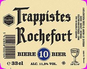 Rochefort 10 beer Label Full Size