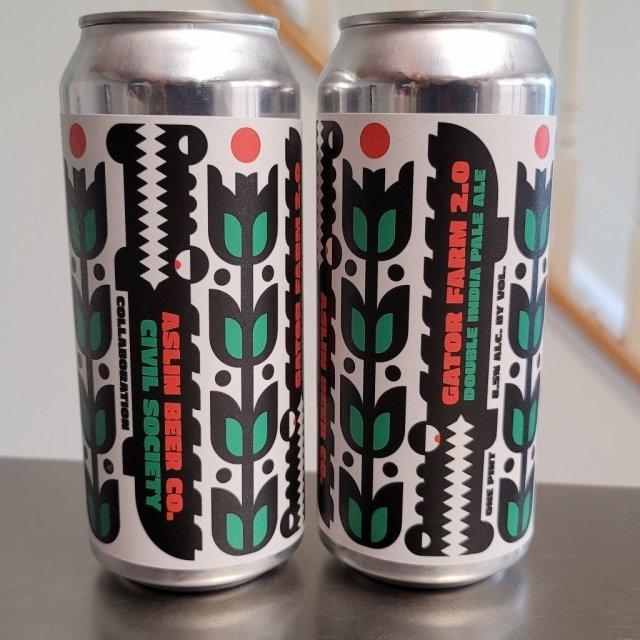 Aslin + Civil Society Gator Farm 2.0 beer Label Full Size