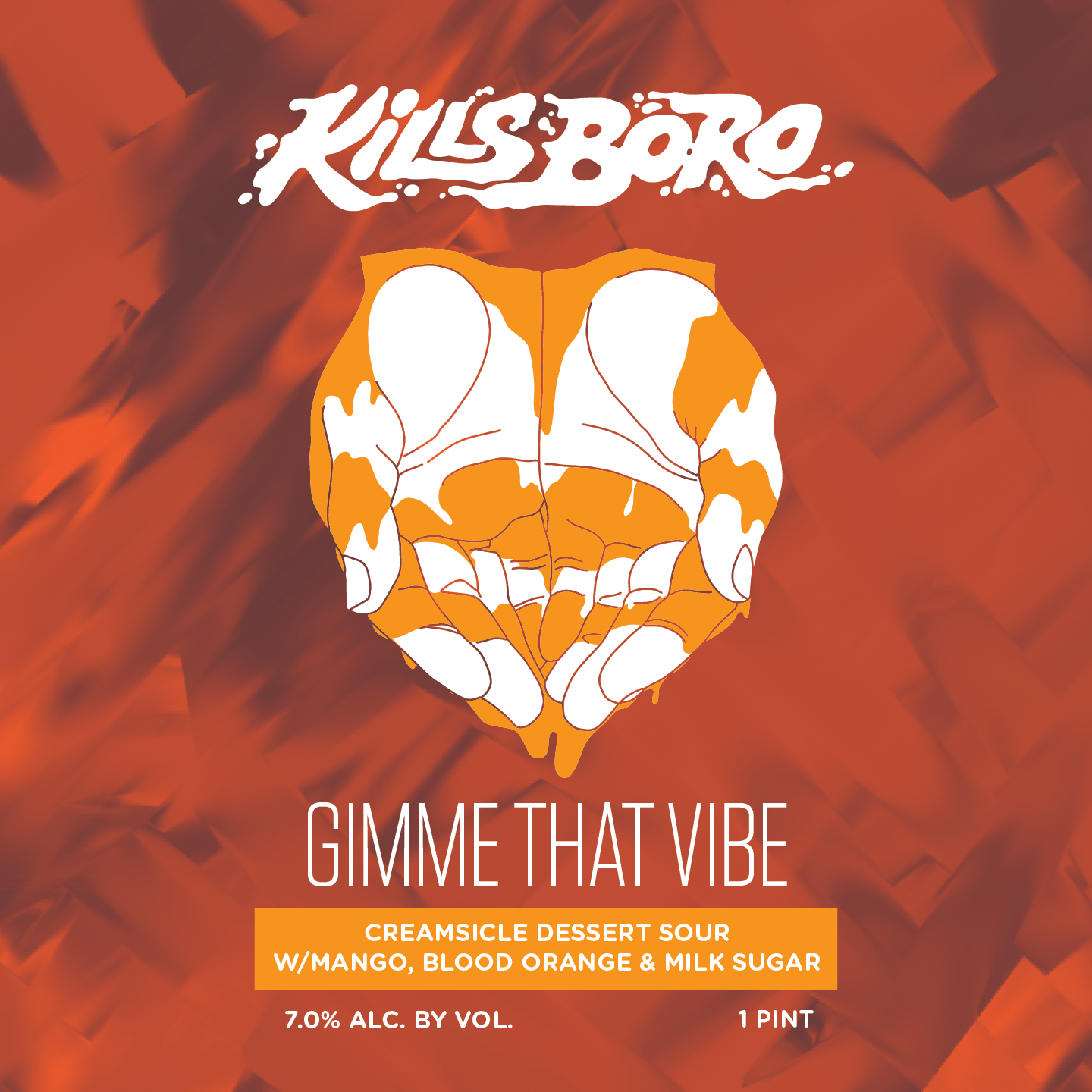 Kills Boro Gimme That Vibe beer Label Full Size