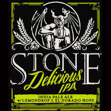 Stone Delicious IPA beer Label Full Size