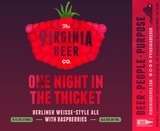 Virginia Beer Co. One Night In The Thicket NITRO beer
