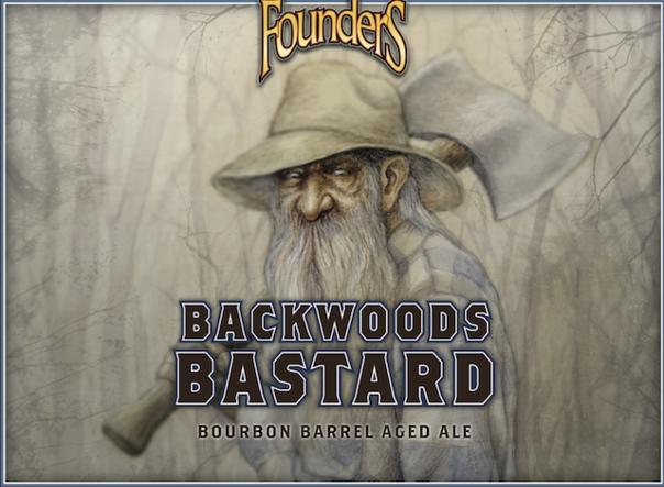 Founders Backwoods Bastard beer Label Full Size