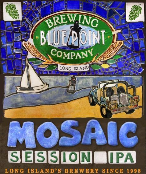 Blue Point Mosaic Session IPA beer Label Full Size