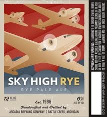Arcadia Sky High Rye beer Label Full Size
