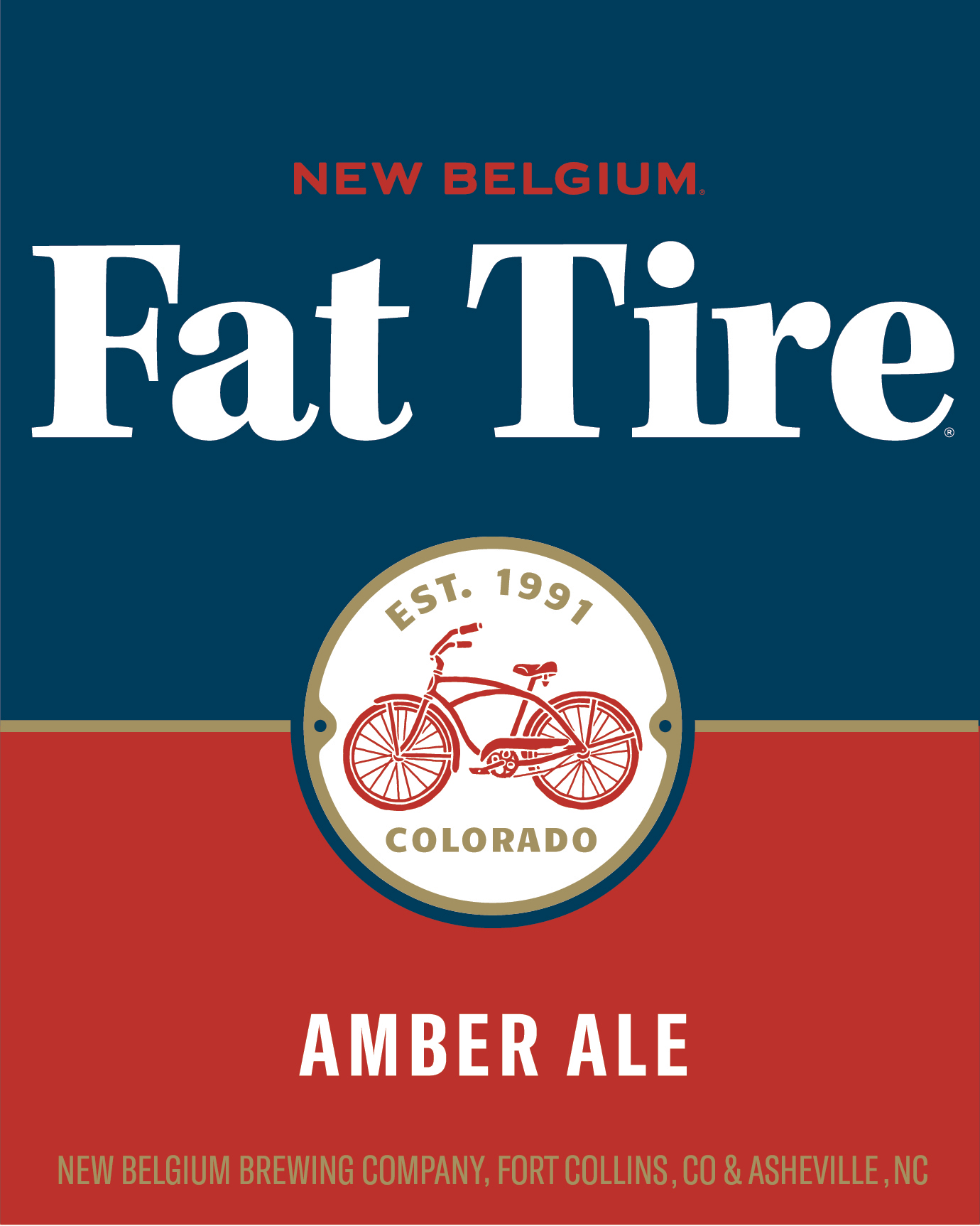 New Belgium Fat Tire Amber Ale beer Label Full Size