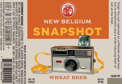 New Belgium Snapshot beer Label Full Size