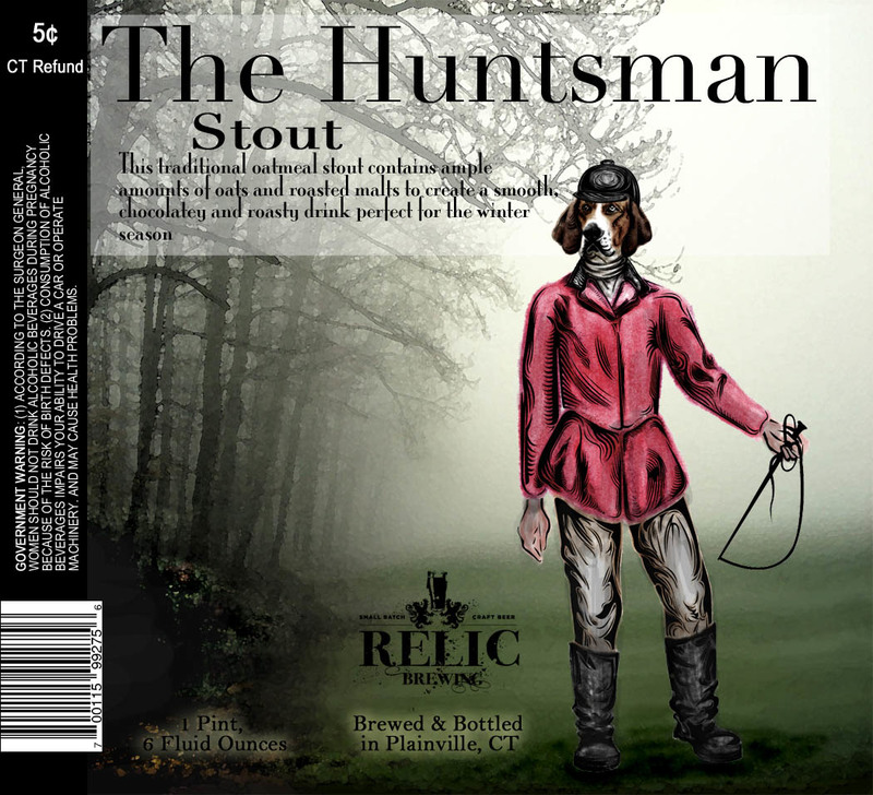 Relic The Huntsman Oatmeal Stout beer Label Full Size