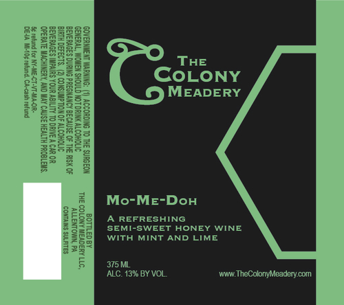 Colony Mo-Me-Doh beer Label Full Size