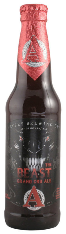 Avery The Beast Grand Cru 2012 beer Label Full Size