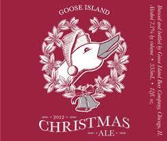 Goose Island Christmas Ale beer Label Full Size