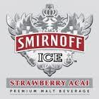 Smirnoff Ice Strawberry Acai beer Label Full Size