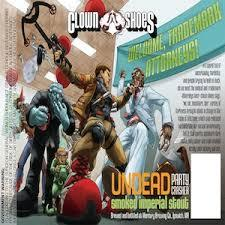 Clown Shoes Undead Party Crasher beer Label Full Size