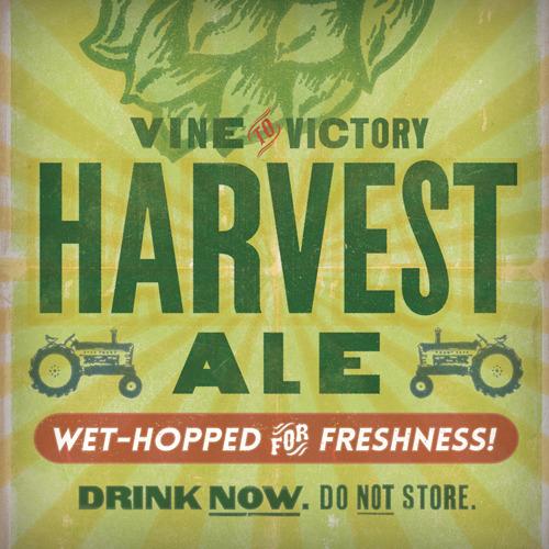 Victory Harvest Ale beer Label Full Size