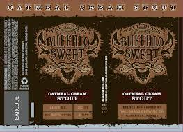 Buffalo Sweat Oatmeal Cream Stout beer Label Full Size