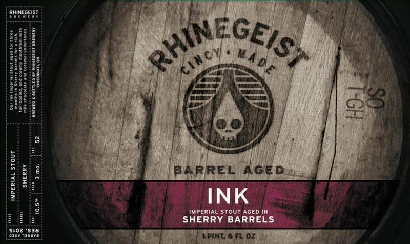 Rhinegeist Ink beer Label Full Size