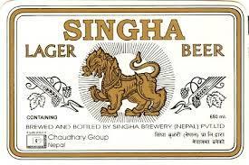 Singha Lager beer Label Full Size