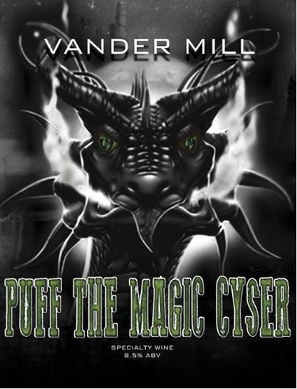 Vander Mill Puff the Magic Cyser beer Label Full Size