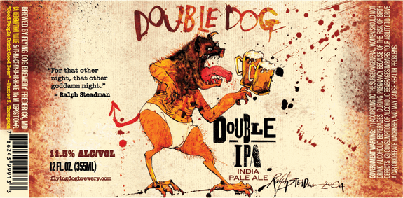 Flying Dog Double Dog Double IPA Beer