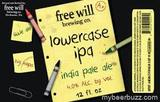 Free Will Lowercase IPA beer