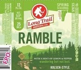 Long Trail Ramble Kolsch-Style Beer