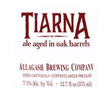 Allagash Tiarna beer Label Full Size
