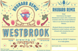Westbrook Rhubarb Remix beer
