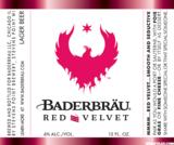 Baderbrau Red Velvet beer