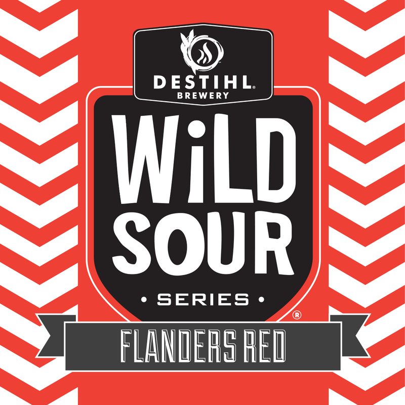 DESTIHL Wild Sour Series: Flanders Red beer Label Full Size