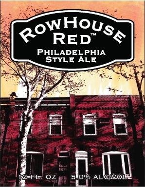 Philadelphia Rowhouse Red beer Label Full Size
