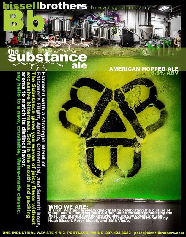 Bissell Brothers The Substance beer Label Full Size