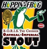 Hoppin' Frog B.O.R.I.S. The Crusher beer Label Full Size