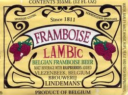 Lindeman's Framboise beer Label Full Size